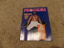 PROGRAM VOLUME 129 W/CATALOG wwf MAGAZINE wrestling