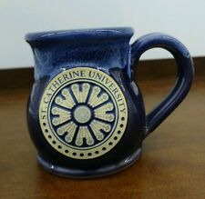 St. Catherine University Coffee Mug John Deneen Pottery College Of Blue Glaze