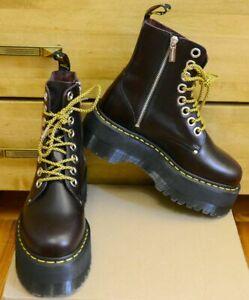 Dr Martens Jadon Max Double Platform Oxblood Atlas Boots, Size UK 6.5 EU 40