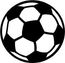 Ballon de football ballon de Football Logo Autocollant Decal étiquette en vinyle graphique noir v1