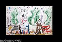 Pablo Picasso Limited Ed. n°332 COLOR 41x27cm Lithograph +Ref:c101 +Custom FRAME