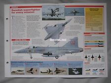 Aircraft of the World Card 9 , Group 6 - Saab JAS 39 Gripen
