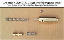 Crosman 2240 2250 Performance Pack - Power Valve & Spring, Adj Sear, Max Bushing