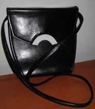 TONY MONTANA BLACK & WHITE A-FRAME VINTAGE PURSE - MADE IN ITALY