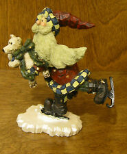 Boyds Carvers Choice #370104 SANTA JR...QUICK AS A FLASH, New from Retail Store