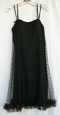 """""""Pixie"""" Party Dress by Sue Webb ~ Black, With Netting Overlay~Made in California"""