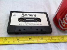 Gemini ICS + DATA DEMO FILE BBC Micro Classic Game Retro Cassette Tape