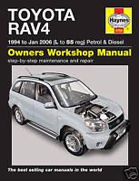 Haynes Manual Toyota RAV4 1994-2006 Petrol Diesel 4750 NEW