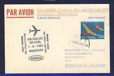 45325) Sabena FF bruselas-manchester 1.6.60, a partir de Portugal Stamp Model Glider