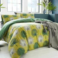Green Duvet Covers 100% Cotton Tropical Palm Appletree Quilt Cover Bedding Sets