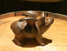 Miniature Cast Iron Rustic Flying Pig, 2.5