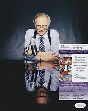 Larry King In-Person Signed 8x10 Photo w/ Jsa Coa #R73774 Cnn Live