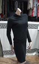 Malene Birger Lovely Black High Neck Long Sleeve Smart All Season Day Dress M