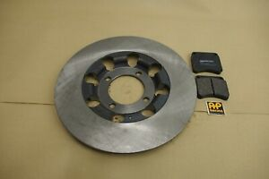 TRIUMPH T140 TR7 T150 T160 CLASSIC DRILLED BRAKE DISC AND AP RACING PADS