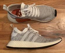 Adidas NMD R2 Primeknit PK White Core Black Grey Glitch BY9410 Men Shoe Size 10