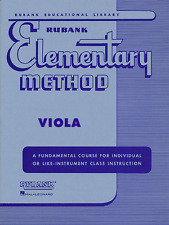 RUBANK ELEMENTARY METHOD FOR VIOLA-MUSIC BOOK INSTRUCTION BAND BRAND NEW ON SALE