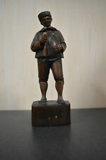 Vintage Anri Italy Hand Carved Wood Man 7 1/2 inch