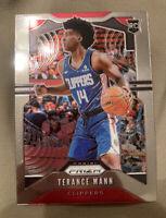 2019-20 Terance Mann Panini Prizm Base Rookie Card #296 LA Clippers RC