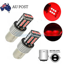 AU 2X 12V BAY15D 1157 P21/5W 15 LED RED CAR BRAKE TAIL LIGHTs 2835 CANBUS BULBS