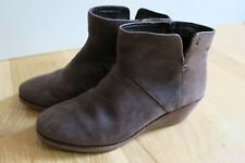 EMU CARLISE 6.5 FULL GRAIN LEATHER WEDGE ANKLE BOOTS BOOTIES ESPRESSO BROWN
