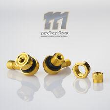 Gold 11.3mm CNC Aluminium 90 Degree Motorcycle Car Wheel Rim Tyre Valve Stems