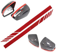 For Mercedes Benz AMG Red Side Rear View Mirror Stripes Decal Sticker CLA C63
