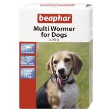 Dogs Multi Wormer Tablets 12 Tablets Tape Round Worming BEAPHAR