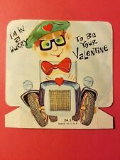 Vintage 1940's Valentine Card I'M in a Hurry to be Your Valentine Old Automobile