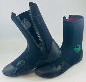 Hot surf 69 5mm Zipped Wetsuit Boots Round Toe Year Round Neoprene Surfing Boot