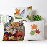 "Maple leaf Linen Cotton Throw Pillow Case Cushion Cover Home Sofa Decor 18"""