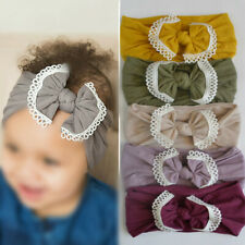 Baby Kid Girl Headband Toddler Bowknot Lace Hair Band Head Wrap Child Gift Band