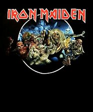 IRON MAIDEN cd cvr WASTED YEARS CIRCLE Official SHIRT XL New somewhere in time