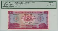 Northern Ireland 1 Pounds 1966 P321ct, color trial LCG 53 About new