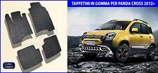 Tappetini auto in Gomma - Tappeti Specifici Set 4 PZ. Fiat Panda Cross 2012>