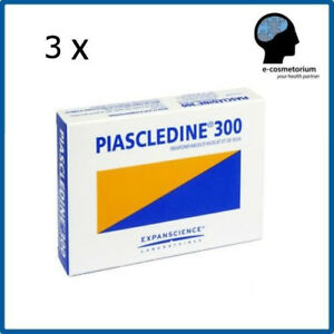 3 x PIASCLEDINE 300mg Anti-Rheumatic and Osteoarthritis, Joints; Total 90 caps