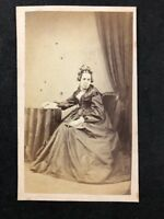 Victorian Carte De Visite CDV: Unknown Older Lady: Dated 1871