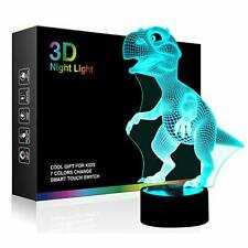 3D Illusion LED Table Desk Lamps Dinosaur Nightlight Bedroom Decor Pet Love Gift