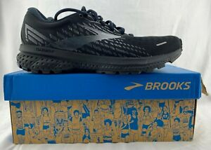 Brooks Ghost 13 Women's Black/Black Lace Up Running/Jogging Shoes Size 8.5