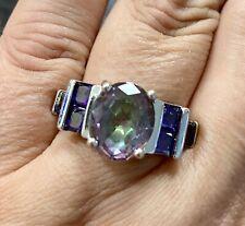 Sterling Silver 925 Purple Amethyst Ring Size 9