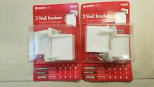 Lot of 2 Packages - ClosetMaid 2-Pack Wall Brackets Shelf Supports #6600