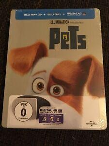 PETS 3D LIMITERTE STEELBOOK EDITION 3D + 2D BLU RAY, NEU & OVP