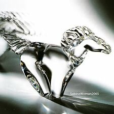 HUGE NEW in BOX STEUBEN glass HORSE GALLOPING stallion crystal ornament colt