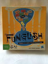 2010 Hasbro Funglish Board Game Home Family Excellent Condition