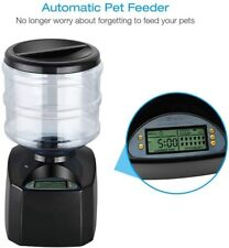 Heglow (Black) Smart Feeder,Automatic Feeder,5.5 Liter Electric Pet Feeder