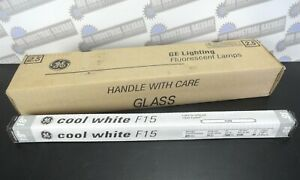 """Lot of 6 - GE Fluorescent Lamps F15T8, 18"""" Cool White, 15 Watts, Bi-Pin (NEW)"""