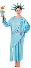Ladies American Statue of Liberty USA Themed Fancy Dress Costume Outfit 10-12-14