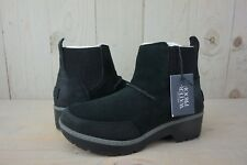 UGG KRESS  WATERPROOF BLACK SUEDE ANKLE BOOT WOMENS US 11 NIB