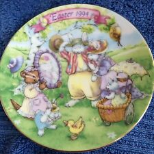 Avon 1994 Easter Plate Commemorating The Holiday~22K Gold Trimmed~Pretty