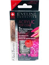 Eveline Top Coat 5x Acrylic Nail Therapy Extends Durability of Nail Polish