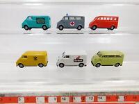 CA586-0,5# 6x Praline 1:87/H0 Lieferwagen DKW F 89 L: 4711 + Erdal + Post etc